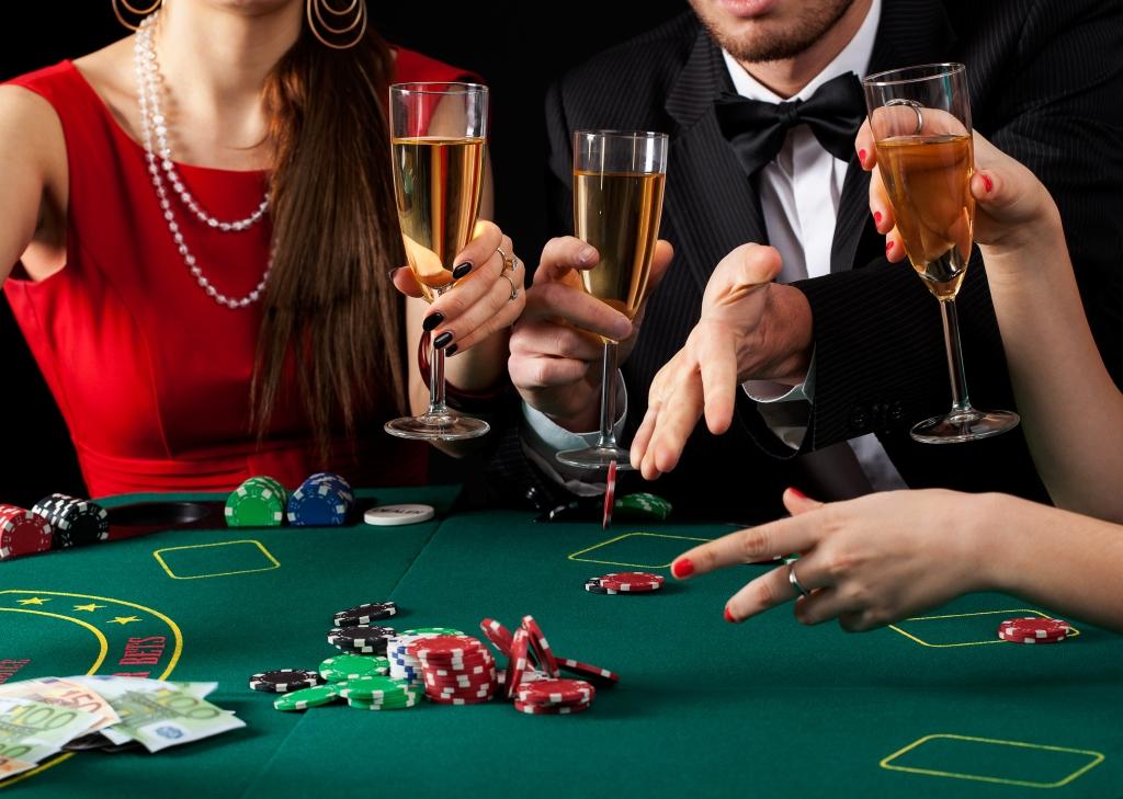 Soirée poker au casino